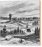 War Of 1812: Bladensburg Wood Print