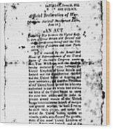 War Of 1812: Broadside Wood Print