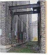 Warehouse Beams And Grafitti Wood Print