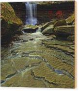 Warm Sky Cool Water Wood Print