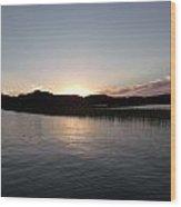 Warm Sunshine Lake Wood Print
