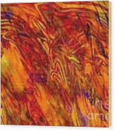 Warmth And Charm - Abstract Art Wood Print