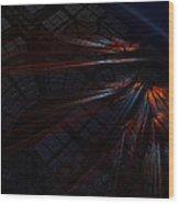 Warp 8 Wood Print by Nafets Nuarb