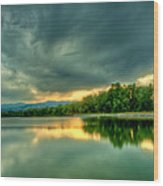 Warren Lake At Sunset Wood Print