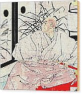 Warrior Kiyomori 1882 Wood Print
