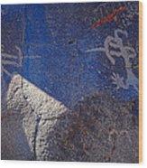 Warrior Petroglyph Wood Print
