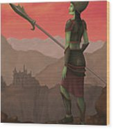 Warrior Princess Of Skorden Wood Print