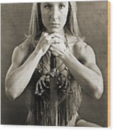 Warrior Woman Wood Print by Cindy Singleton