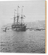 Warship Kaiser On Which Kaiser Wilhelm II Of Germany Came To Istanbul Wood Print