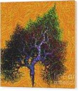 Was A Crooked Tree  Grunge Art Wood Print