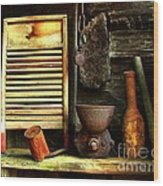 Washboard Still Life Wood Print by Julie Dant