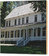 Washburn Cottage Wawona Wood Print