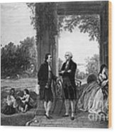 Washington And Lafayette, Mount Vernon Wood Print