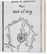 Washington: Book Of Surveys Wood Print