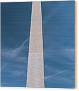 Washington Monument And Flags Wood Print