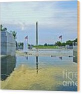 Washington Monument And The World War II Memorial Wood Print