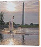 Washington Monument From The World War II Memorial Wood Print