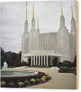 Washington Temple Wood Print
