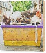 Waste Skip Wood Print