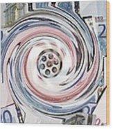 Wasting Money, Conceptual Image Wood Print