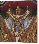 Wat Hua Lamphong Ubosot Roof Garuda Dthb1065 Wood Print