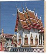 Wat Huai Phai Ubosot And Compound Dthu096 Wood Print