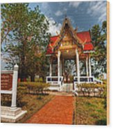 Wat Kham Chanot Wood Print