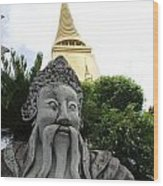Wat Phrakaew Guardian Wood Print