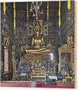Wat Ratcha Orasaram Ubosot Interior Dthb859 Wood Print