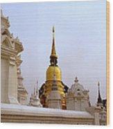 Wat Suan Dok Royal Cemetery  Wood Print