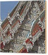 Wat Suan Phlu Ubosot Angel Gable Finials Dthb227 Wood Print