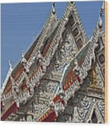 Wat Suan Phlu Ubosot Gable Dthb1132 Wood Print