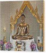 Wat Traimit Golden Buddha Dthb964 Wood Print