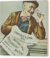 Watch Trade Card, C1880 Wood Print