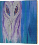 Watcher In The Blue Wood Print