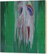 Watcher In The Green  Totem Series  Wood Print