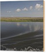 Water And Marsh In Plaquemines Parish Wood Print