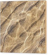 Water And Sand Ripples Wood Print