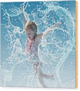 Water Baby Wood Print by Suni Roveto