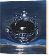 Water Crown Wood Print