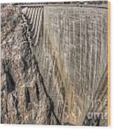 Water Dam Wood Print