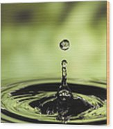 Water Drop And Ripples Wood Print