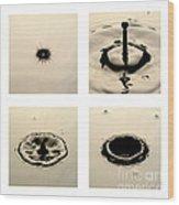 Water Drop Wood Print by Raul Gonzalez Perez