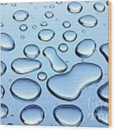 Water Drops Wood Print by Carlos Caetano