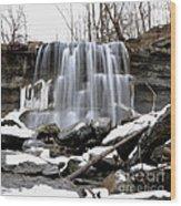 Water Falls At Rock Glen Wood Print