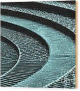 Water Feature - Aqua  Wood Print