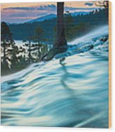 Water Flow Above Emerald Bay Wood Print