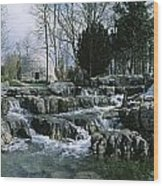 Water Flowing In A Garden, St. Fiachras Wood Print