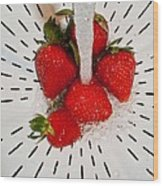 Water For Strawberries Wood Print