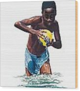 Water Game Wood Print by Gregory Jules